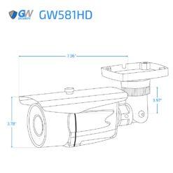 581HD dimensions
